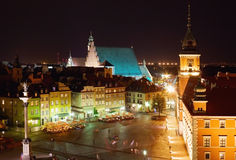 Center of Warsaw royalty free stock image