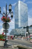 Center of Warsaw - Bankowy Square Stock Photos