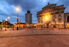 Center of Warsaw in the morning. Stock Photography