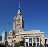 Center of Warsaw - Palace of culture and science Royalty Free Stock Photos