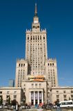 Center of Warsaw - Palace of culture and science Stock Photography