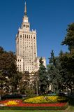 Center of Warsaw - Palace of culture and science Stock Image