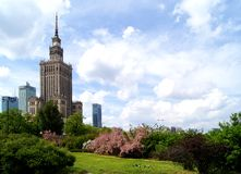 Center of Warsaw - Palace of culture and science Royalty Free Stock Image