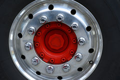 Center wheel of a truck Royalty Free Stock Image