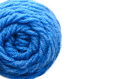 Center of Yarn Ball on White Background Royalty Free Stock Images