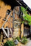 Center of 700 years old Ottoman village Cumalikizik. The historical texture of the village. Has been well protected. The village accepted as Unesco world stock photography