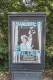 Centercom affischtavla från det Billy Wilder Exhibition At The Eye museet på Amsterdam Nederländerna 2018 arkivfoto