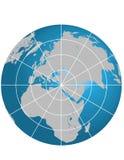 глобус Израиль centerd Стоковая Фотография