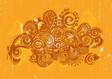 Centered Orange Paisley Royalty Free Stock Images