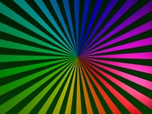Centered strips rainbow Stock Image