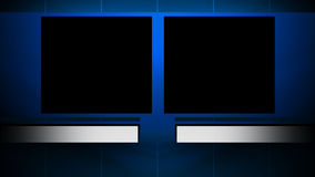 Two Window Background with Matte. A looping background with 2 windows for side by side footage stock video footage