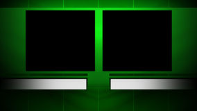 Two Window Background with Matte. A looping background with 2 windows for side by side footage stock footage
