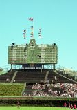 2001 Centerfield Scoreboard at Wrigley Field. Image taken from color negative royalty free stock images