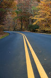 Centerline of a country road Royalty Free Stock Image