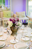 Centerpiece on a table. Colorful Centerpiece on a table at an event or wedding reception Stock Photography
