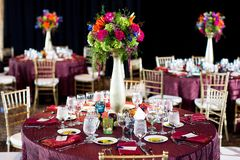 Centerpiece at a wedding reception Royalty Free Stock Photography