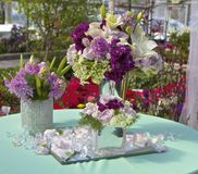 Centerpieces in Purple Stock Photos