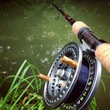 Centerpin fishing. Fishing on the river for some trout royalty free stock photo