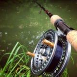 Centerpin fishing Royalty Free Stock Photo