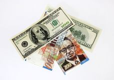 Centesimal banknotes Royalty Free Stock Images