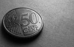 50 centesimi di еuro Immagine Stock Libera da Diritti