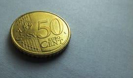 50 centesimi di еuro Fotografie Stock