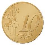 centesimo dell'euro 10 Fotografia Stock Libera da Diritti