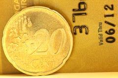 centesimo dell'euro 20 Immagini Stock