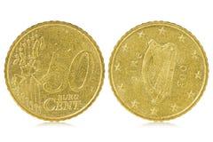 Centesimo dell'euro cinquanta dell'Irlanda Immagini Stock Libere da Diritti