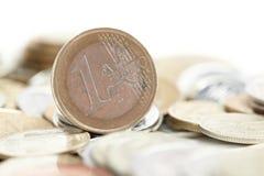 Centesimo dell'euro della moneta Fotografie Stock