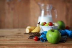 Centimètre de pomme de fruit de régime de petit déjeuner Images stock