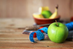 Centimètre de pomme de fruit de régime de petit déjeuner Photo stock