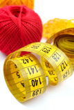Centimeter and a ball of yarn Royalty Free Stock Photo