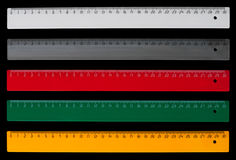 Centimeter rulers Stock Photography