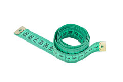 Centimeter to measure service and body. Roulette for measuring centimeters service, body, long. On a white background. Russian roulette tool Stock Photo