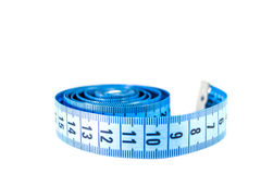 Centimeter on white Royalty Free Stock Image