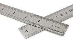 Centimetres vs inches stock photography