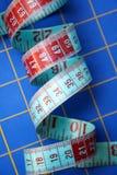 Centimetro astratto sullo scrittorio della rappezzatura Fotografia Stock