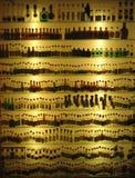 Centinaia di bottiglie Fotografie Stock Libere da Diritti