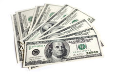 Centinaia di dollari Immagine Stock