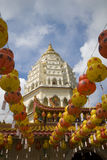 Centinaia di lanterne al tempiale di Kek Lok Si Fotografie Stock Libere da Diritti