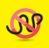 Centipede Remove Symbol. Vector Illustration Royalty Free Stock Image