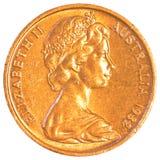 Centmünze des australischen Dollars Stockbilder