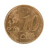 Centmünze des Euro 10 Stockfotografie