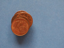 1 Centmünze, Europäische Gemeinschaft, mit Kopienraum Stockbilder