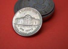 Centmynt för fem USA Arkivfoton