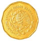 centmynt för mexikansk peso Royaltyfri Fotografi