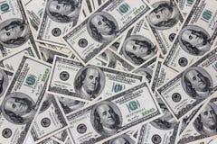 Cento americani della fattura del dollaro Immagini Stock