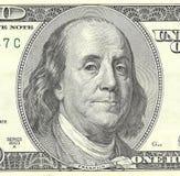 Cento banconote del dollaro. Fotografia Stock