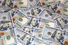 Cento banconote dell'americano del dollaro Immagine Stock Libera da Diritti